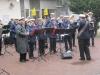 Musikkårens dag i Kristinehamn - Gruvöns musikkår utanför Ostbjörn