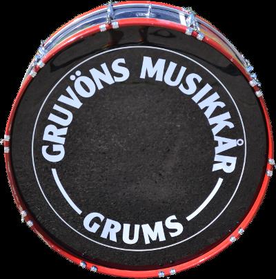 Gruvöns musikkårs bastrumma.