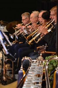 Trumpetsektionen vid jubileumskonserten 2011