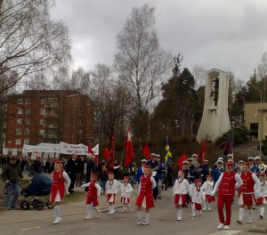 Demonstrationståg Grums 2010.