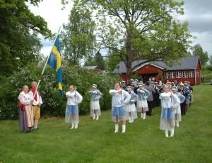 Grumsdrillen och Gruvöns musikkår i Östervallskog 2012