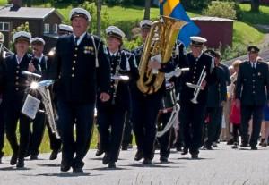 Gruvöns musikkår i Östervallskog 2014