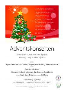Affisch julkonsert Norge