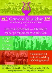 Affisch för Abba-konsert