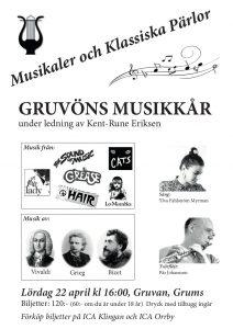 Affish för konserten Musikaler och klassiska pärlor